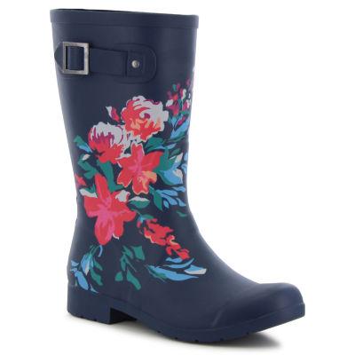 Chooka Fashion Womens Flora Rain Boots Waterproof Pull-on