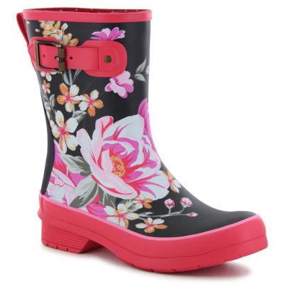 Chooka Fashion Womens Hilde Rain Boots Waterproof Pull-on