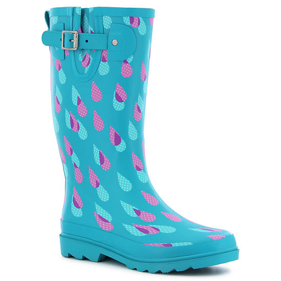 6a2b7b919d2 Western Chief Womens Dotty Downpour Rain Boots Waterproof Pull-on Wide Width  - JCPenney