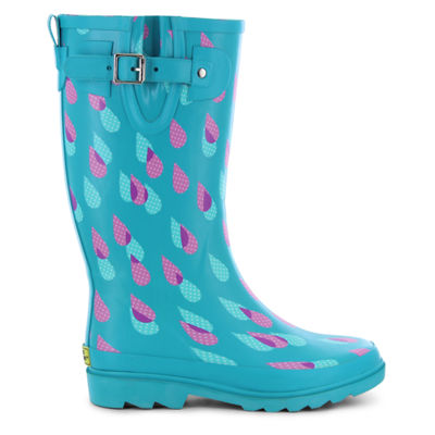Western Chief Womens Dotty Downpour Rain Boots Waterproof Pull-on Wide Width