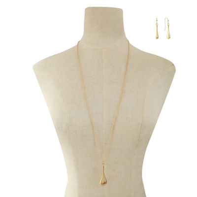 Liz Claiborne Gold Tone 3-pc. Jewelry Set