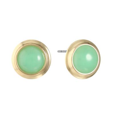 Monet Jewelry Green 20.3mm Stud Earrings