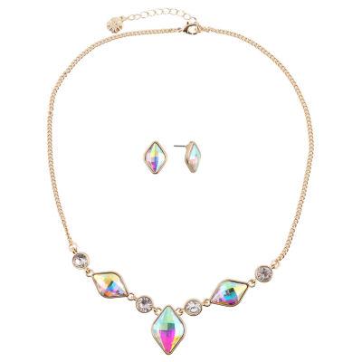 Monet Jewelry Womens 2-pc. White Jewelry Set