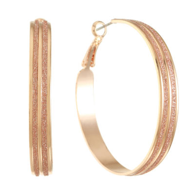 Liz Claiborne 50mm Hoop Earrings
