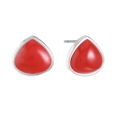 Liz Claiborne Red 14mm Stud Earrings