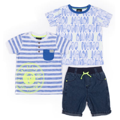 Boys Rock 3-pc. Pattern Pant Set - Baby