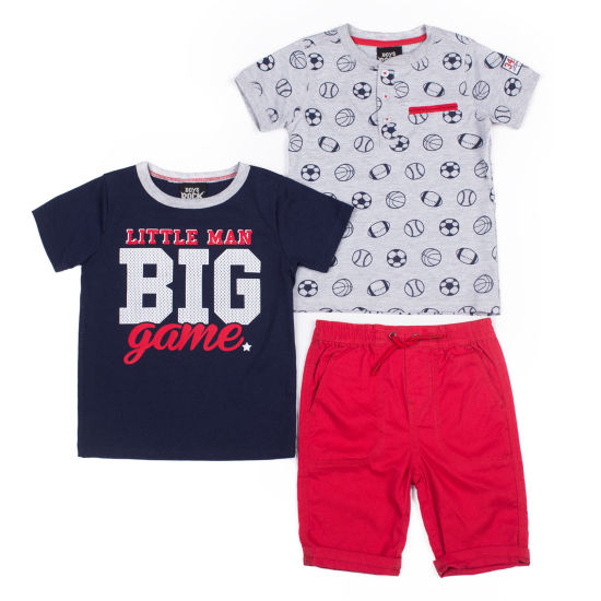 Boys Rock 3-pc. Big Game Short Set - Baby