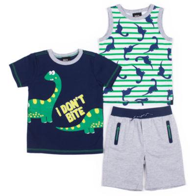 Boys Rock 3-pc. Pattern Pant Set Baby Boys