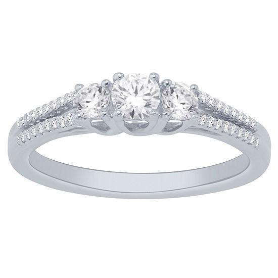 14K White Gold 1/2 Cttw Ring