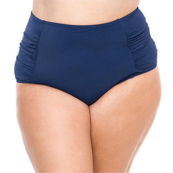 Boutique High Waist Swimsuit Bottom Plus