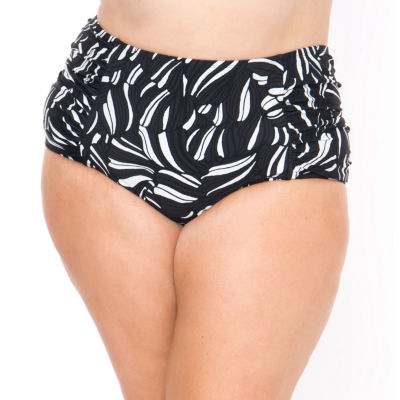 Boutique + Leaf High Waist Swimsuit Bottom-Plus