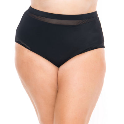 Boutique + Brief Swimsuit Bottom-Plus