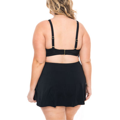 Boutique + Flounce Swimsuit Top-Plus
