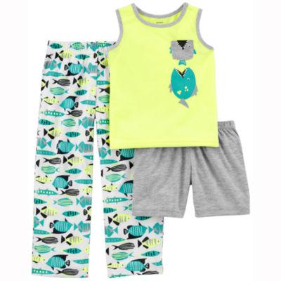 Carter's Fish Print 3 Piece Pajama Set - Baby Boys
