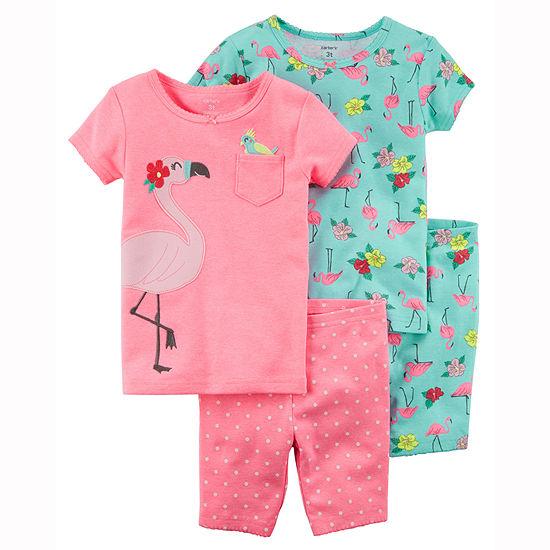 Carter's 4-pc. Pajama Set Toddler Girls