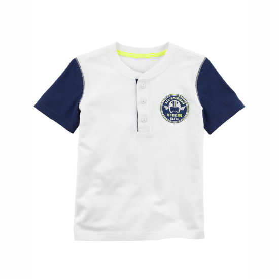 Carter's Short Sleeve Henley Shirt - Toddler Boys 2T-5T