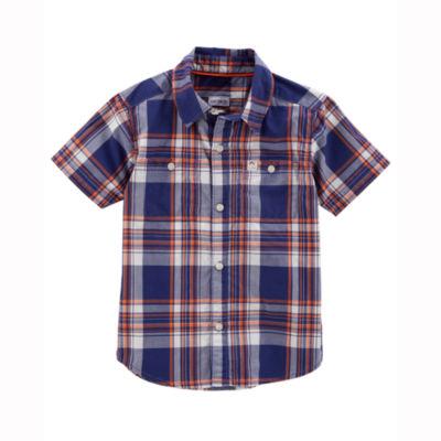 Carter's Plaid Short Sleeve Button-Front Shirt - Toddler Boys 2T-5T
