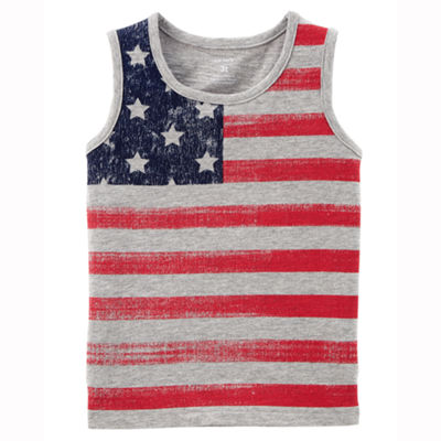 Carter's 4th Of July Boys Round Neck Tank Top - Toddler
