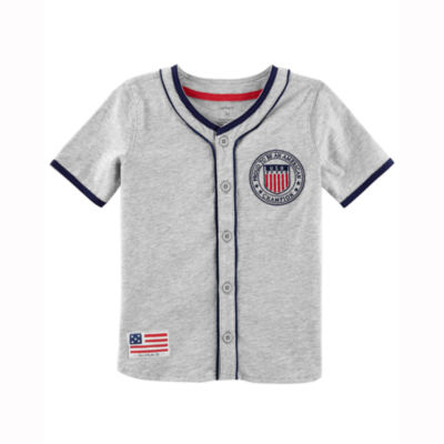 Carter's 4th Of July Short Sleeve Jersey Shirt - Preschool Boys