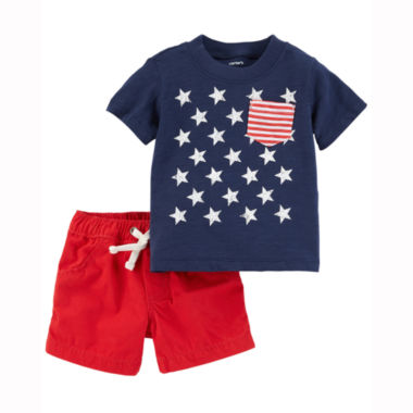 Carter's 4th Of July 2-pc. Short Set Baby Boys