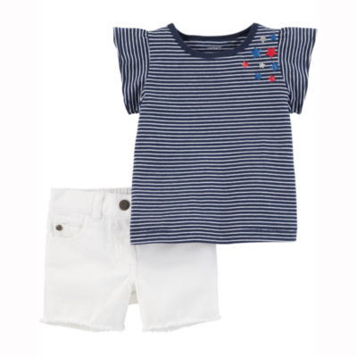 Carter's 4th Of July 2-pc. Short Set Baby Girls
