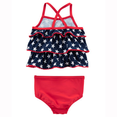 Carter's 4th Of July Girls Star Tankini Set - Baby