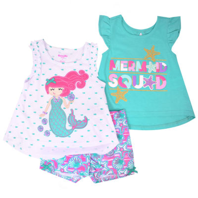 Nanette Baby 3-pc. Short Set Toddler Girls