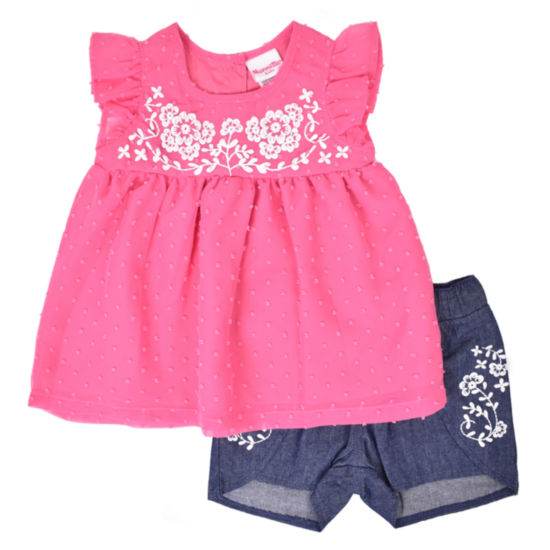 Nanette Baby 2-pc. Short Set Toddler Girls