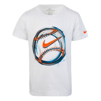 Nike Boys Crew Neck Short Sleeve Graphic T-Shirt-Preschool