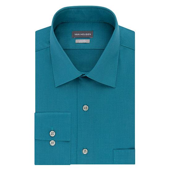 Van Heusen Mens Spread Collar Long Sleeve Stretch Dress Shirt