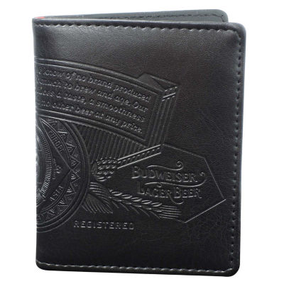 Buxton Budweiser Mens Flip Fold Wallet