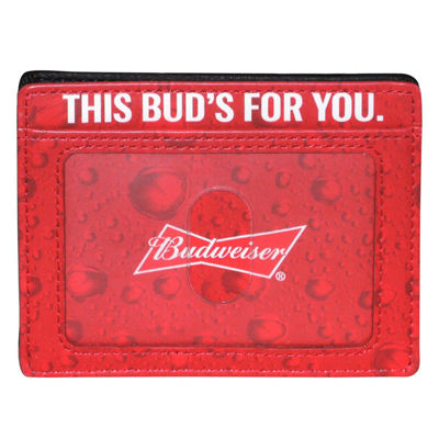 Buxton Budweiser Mens Front Pocket Wallet
