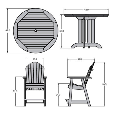 Highwood® Hamilton 5-pc. Round Counter Dining Set