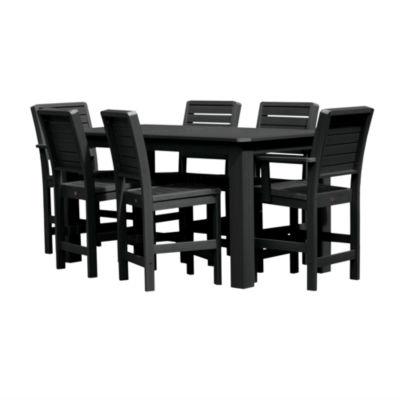 Highwood® Weatherly 7-pc. Rectangular Counter Dining Set