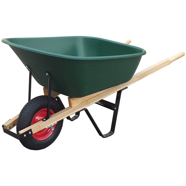 United General WH89695 6 Cubic Feet Poly Tray Wheelbarrow