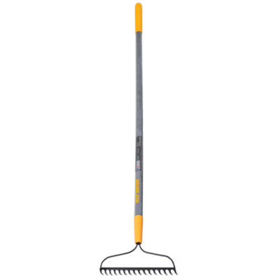 True Temper 2811600 16-Tine Welded Bow Rake With Wood Handle