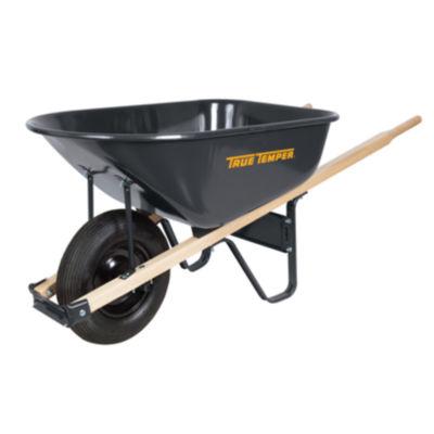 True Temper R625 6 Cubic Foot Steel Wheelbarrow
