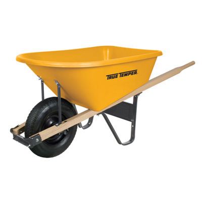 True Temper RP625 6 Cubic Foot Poly Wheelbarrow