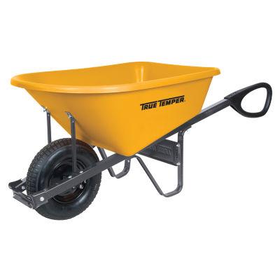 True Temper RP6TC14 6 Cubic Foot Total Control Poly Wheelbarrow