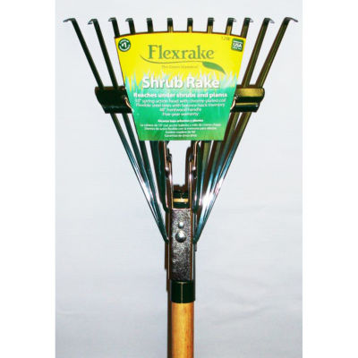 Flexrake 12W 4' Twelve Tine Hardwood Handle ShrubRake