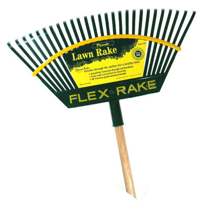 "Flexrake 2W 48"" Handle 21"" Lehan¨ Action Poly¨ Head Lawn Rake"""