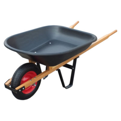 United General WH89679 4 Cubic Feet Poly Tray Wheelbarrow