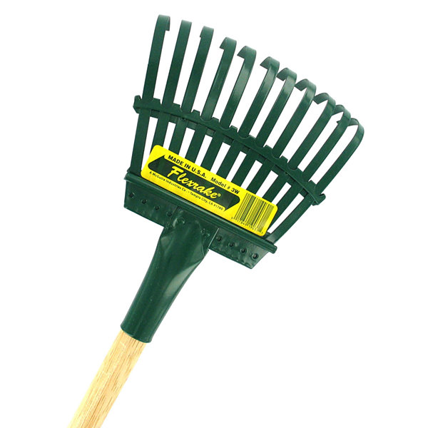 "Flexrake 3W 48"" Handle 8"" Steel Head Shrub Rake"""