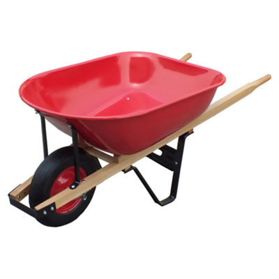 United General WH89975 6 Cubic Feet 20 Gauge SteelTray Wheelbarrow