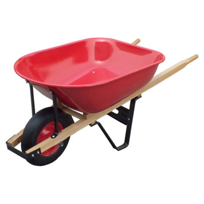 United General WH89982 6 Cubic Feet 18 Gauge HeavyDuty Steel Tray Wheelbarrow