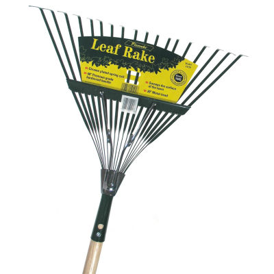 "Flexrake CF20 48"" Handle 20"" Spring Action Metal Head Leaf Rake"""