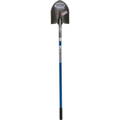 "Seymour 49450 8.4"" Round Point Shovel With 46"" Fiberglass Handle"""
