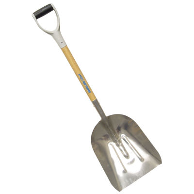 """Ames 1671000 27"""" Wood D Grip Handle No. 10 RibbedAluminum Grain Scoop"""""""