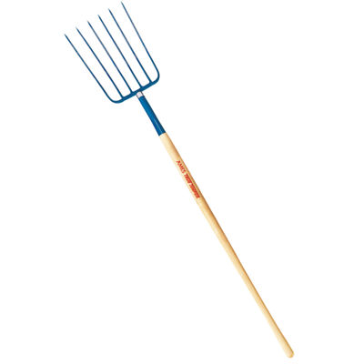 "Ames 1838200 48"" Handle 6 Tine Manure Fork"""