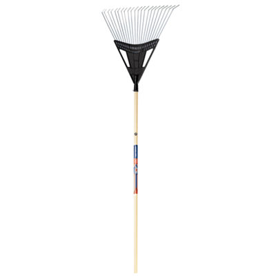 "Ames 1932800 20"" True American Poly Steel Leaf Rake"""